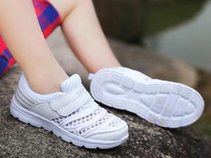 De grands enfants Mode blanc couleur espadrille engrener antidérapant supérieur poids léger confortable chaussures de sport