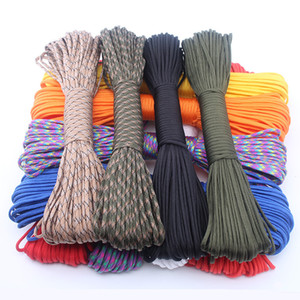 7 fili interni 250 colori Paracord 550 Rope Type III 7 Stand 25Feet Paracord Cord Rope Survival kit Wholesale