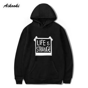 Felpe con cappuccio da uomo La vita è strano uomini / donne moda casual hip hop cotone hip hop autunno / primavera streetwear