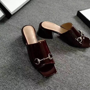 Hot Sale-Sandals Women Casual Shoes Double Buckle Famous Brand Arizona Summer Beach Top Quality Genuine Leather Slippers With Orignal Box