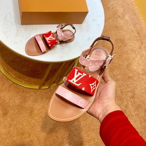 Newast Luxury Женские сандалии модельер из натуральной кожи с принтом Марка вьетнамка лето Классика Повседневные балетки Beach Jelly Босоножки