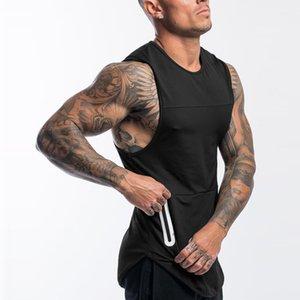 Erkek Çılgın Kas Spor Yelek Spor Kolsuz T Gömlek Gündelik Açık Eğitim Nefes Gevşek Çabuk kuruyan Tank Tops