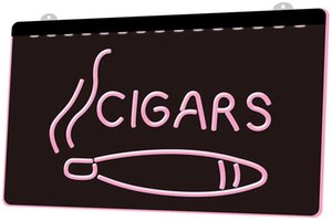 LS1615 0 cigarros Cigar Shop Nueva Nr RGB inicio de sesión múltiple Color Mando a Distancia grabado 3D LED luz de neón barra de la tienda del club del Pub