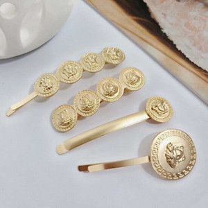 Venta al por mayor Baroque Cameoo Head Hair Clips Matte Gold Barrettes Women Girl Fashion Hair Jewelry Accessories Support Mix