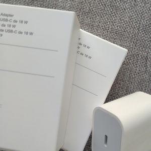 50pc / lot 18W PD veloce di carico del caricatore parete della spina UE USB Type-C Port Adapter Per IP8 Inoltre XS XR 11 Pro Max
