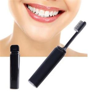 Portátil compacto carvão de bambu escova de dentes dobrável viagem de acampamento caminhadas ao ar livre fácil de tomar Dobrável Teethbrush