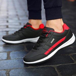 YIBING1517 Hommes Chaussures de sport New Mode Chaussures Hommes Casual Haute Qualité respirante lacent Printemps Eté Cuir Homme