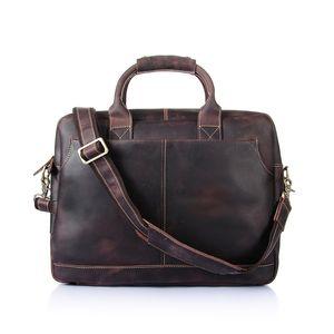 Herren Aktentasche Rindsleder Tasche Hochwertige Handtasche Designer Handtaschen tragbare Echtleder Reisetasche