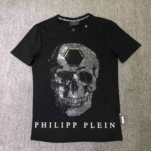 quente novo produto T Homens verão camiseta Moda manga curta t-shirt Roupa descontraída Hip impressão Carta Crânio Hop t-shirt novo estilo Man Clothin