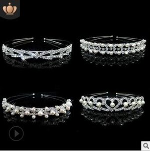 40pcs / lot bricolage simple Sliver main perle Drill Bandeau 4 Styles Bride diamant bandes photo tête Outils de cheveux HA855