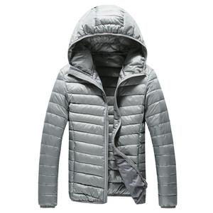 Nouveau haut de gamme pour hommes chaud Mode plumes avec capuche Down Jacket Mens Boutique Pure Color Plume Manteau de duvet Vestes légères minces