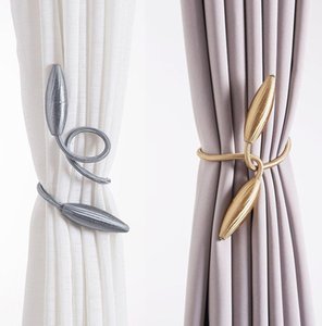 1pair forme arbitraire forte rideau Embrasses en peluche alliage suspendus Ceintures Cordes rideau Retenue TringlerieTringlerie Accessoires
