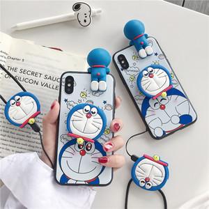 사랑스러운 크리스마스 3D 도라에몽 쉘 패턴 만화 전화 케이스 아이폰 11 X XS XR XS 소프트 TPU 뒤 표지