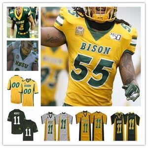 Individuelle 2020 College-North Dakota State Bison NDSU Fußball-Jersey-Zeb Noland Ben Ellefson Jaxon Brown Trey Lance 11 Wentz Aaron Mercadel 4XL