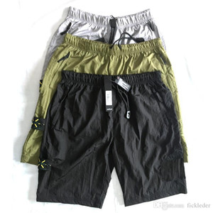 19ss europäischen hot brand retro casual shorts strand trainingshose für herren hosen importiert metall nylon komfortable straßenliebhaber oberschenkel hose