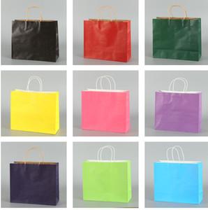 Umweltfreundliche Kraftpapier Tasche Geschenktüten mit Griffen recycelbar Shop Verpackung Verpackung Tasche Hochzeit Geburtstag Party Geschenk Paket Taschen