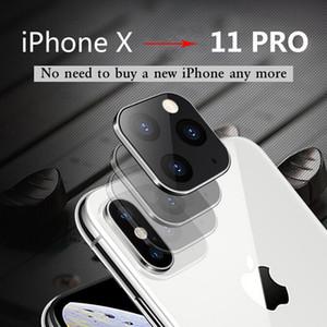 Neuer Schutz Ausgeglichenes Glas Sekunden Kamera wechseln Titanlegierung-Kasten-Objektiv-Abdeckung für iPhone 11 Pro Max iPhone X XS XR Sekunden ändern