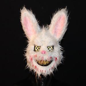 El mal máscara de conejo Bloody Bloody felpa máscara máscaras del horror de la mascarada del partido de Cosplay Máscara Máscara Puntales Pascua Tricky