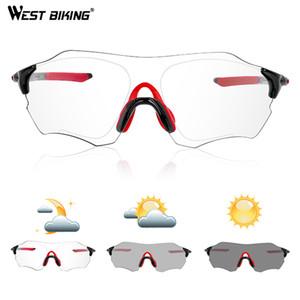 Fotocrómico sin rebordes bicicleta de la bici de los vidrios deportes al aire libre MTB gafas de sol gafas sin montura de gafas Ciclismo ciclo de la bicicleta Eyewear