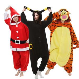 kigurumi animales adultos pijamas de alta calidad Polar Panda tigre para mujer del sueño Onesie Cosplay invierno Pijama Pijama Bodies Y200425