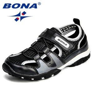Baona nuovo arrivo in stile classico bambini sandali maglia gancio ragazzi scarpe estive ragazze all'aperto scarpe luce spedizione gratuita Y190525