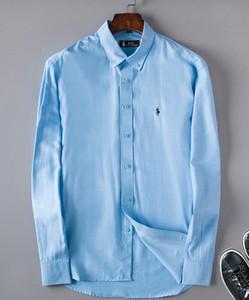 Оптовая 2019 Новый Бренд Весна Осень Повседневная С Длинным Рукавом Мужчины Рубашка Высокого Качества Хлопок Формальные Бизнес Плед Мужские Рубашки Плюс #8607