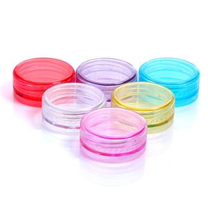 2g Mini Kosmetik Leeres Glas Topf Lidschatten Make-up Gesichtscreme Probe Behälter Lippenbalsam Box Verpackungsbehälter Flaschen