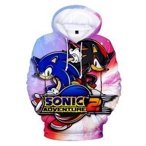 2019 Sonic The Hedgehog Impresso 3D Hoodies Women / Men manga comprida moletom com capuz Hot Sale Popular Streetwear Hoodies personalizado