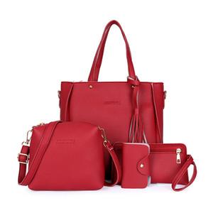 Nuove donne moda borse a tracolla PU lychee modello quattro pezzi copertura borsa a tracolla Messenger Bag borsa a tracolla