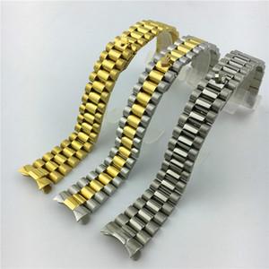 Log tipo tre perline solido diving in acciaio inox cinturino di vigilanza Accessori presidenziale fibbia 20mm Oro Degli Uomini