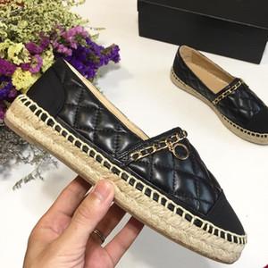 espadrilles مصمم الأزياء الفاخرة النساء أحذية عالية الجودة المرأة شقة عارضة أحذية الحجم 35-41 نموذج AS051501