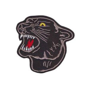 새로운 도착하는 거대한 큰 블랙 표범이 호랑이 머리 자 수 패치에 철 재킷을 위한 청바지 의류 뱃지