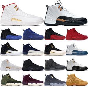 2020 12s populares zapatos de baloncesto de los hombres gris oscuro Juego de la gripe zapatillas de deporte corrientes de euros 40-47 de abrigo negro CNY 2019 Formadores