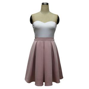Сексуальное женское платье без бретелек Runway Dresses Tassel Сексуальное платье с короткими рукавами до колен Панелевая юбка