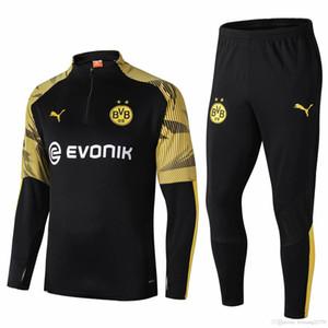 19 20 Bayern Munich Borussia Dortmund football Survêtement hommes 2019 2020 DE BRUYNE Pogba Survêtement de costume formation de football footing chandal