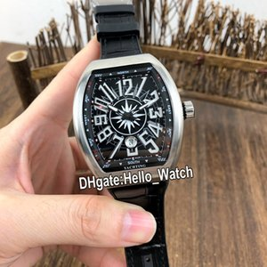 Asian Saratoge V45 Steel Strap Watch Mens Automatic Black Dial New 2813 DT SC Rubber Leather Black Yachting Watches Gents Case Hello_Wa Sxwp