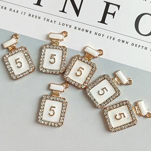 Bouteille de parfum blanc NO5 Bracelet Collier Pendentif Strass Charmes Bricolage Bijoux Accessoires En Gros avec Epacket Expédition