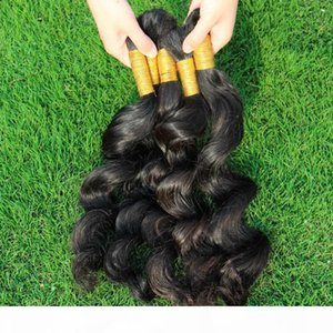 Unprocessed Curly Braiding Human Hair 3 Bundles Deal Cheap Brazilian Loose Wave Hair Extensions In Bulk For Micro Braids Top Bulk Hair