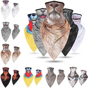 Maschere Quick Dry Ciclismo fronte mezzo Sciarpa animale Naso Bocca stampa Mutilfunction Sport Collare fascia capo Sciarpe maschera di protezione mezza LY507