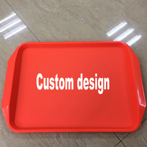 Non-slip Plates 가정 부엌 공구 Eco-friendly 두꺼운 Dinnerware 직사각형 빵 쟁반 Canteen 간이 식품 플라스틱 DH0554