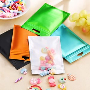 Front Clear Plastic bag Mylar Aluminum Foil Zipper Bag for Long Term food storage and collectibles protection two side colored