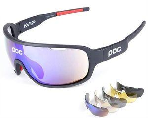 POC 5 Lens Cycling Glasses Bike Sport Sunglasses Men Women Mountain Bicycle Cycle Eyewear lentes de sol para Outdoor Eyewear
