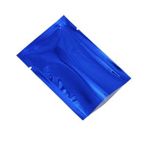 Синяя глянцевая алюминиевая фольга сумка с открытым верхом пакет Майларовых сумок пластиковой Фольга Heat Seal Упаковкой Bag