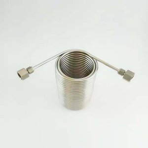 50' Food Grade Stainless Steel Coil ,jockey box coil,nice for Cooing homebrew Draft beer with stainless steel connector