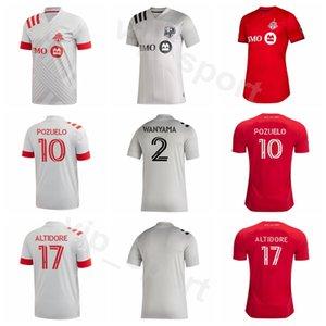 2020 2021 Toronto FC Football 22 Richie Laryea Jersey 10 Alejandro Pozuelo 17 Jozy Altidore 4 Michael Bradley Nick DeLeon de football Kits chemise