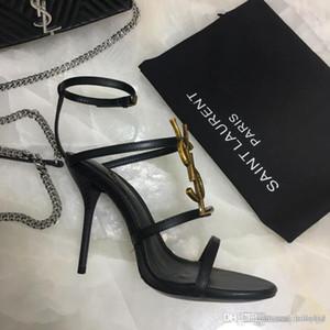 zapatos de tacón alto de las nuevas mujeres de moda en 2019 la cinta combinación bien con los zapatos Material de cuero tamaño 35-41 X3 de 10,5 cm Mujeres