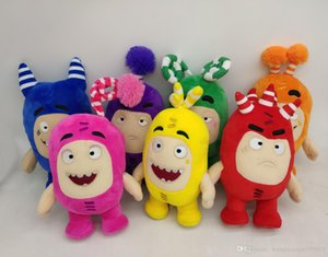Cartoon 18CM Oddbods Plush Toys Stuffed Animals Toys Treasure Of Soldiers Monster Doll Buuble Pogo Zee Birthday Gift