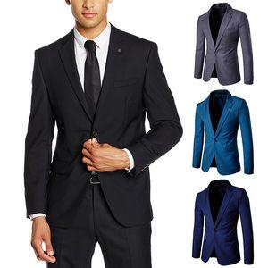 Men Leisure Suit Classic One-Button Solid Color Suit Best Man Formal Dress M-5xl 2019 MEN'S Casual Suit