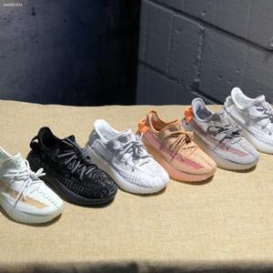 Adidas Yeezy 350 V2 Gerçek Formu Bebek v2 Hiper uzay Çocuk Koşu ayakkabı Kil Kanye West Moda toddler eğitmenler büyük küçük erkek kız Çocuk Toddler sneaker