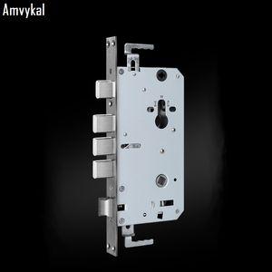 Amvykal Fingerprint Segurança Porta de aço inoxidável Lockbody Anti-roubo Door Lock Geral Corpo Double Live eletrônico Porta Lockbody